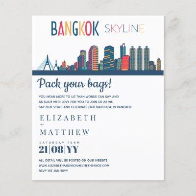 BANGKOK Skyline Wedding Invitation Budget