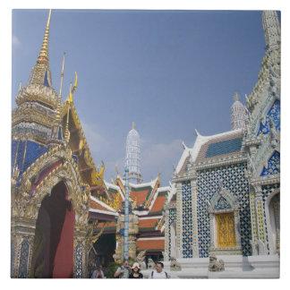 Bangkok, Tailandia. El palacio magnífico de Bangko Azulejo Cuadrado Grande