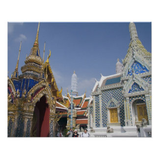 Bangkok, Tailandia. El palacio magnífico de Bangko Póster