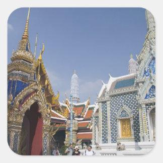 Bangkok, Tailandia. El palacio magnífico de Calcomanía Cuadradas Personalizada