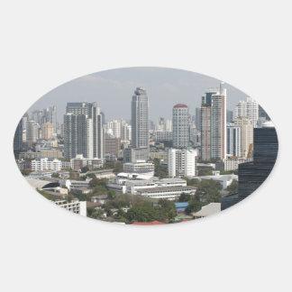 Bangkok, Tailandia Pegatina Ovalada