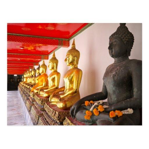 bangkok temple post cards