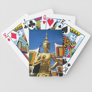 Bangkok temple thailand bicycle playing cards