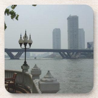 Bangkok Thailand Chao Phraya River Overlook Beverage Coaster