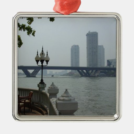 Christmas Tree Manufacturer Thailand : Bangkok thailand chao phraya river overlook christmas tree