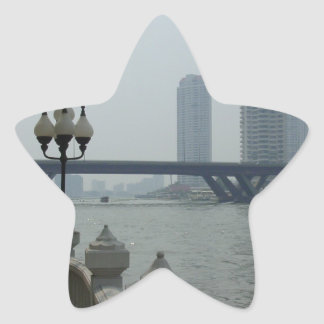 Bangkok Thailand Chao Phraya River Overlook Star Sticker