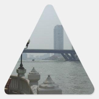 Bangkok Thailand Chao Phraya River Overlook Triangle Sticker