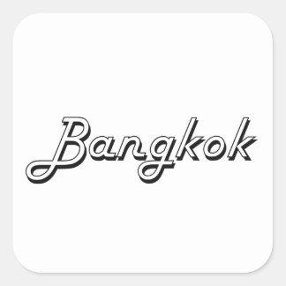 Bangkok Thailand Classic Retro Design Square Sticker