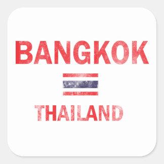 Bangkok Thailand Designs Square Sticker