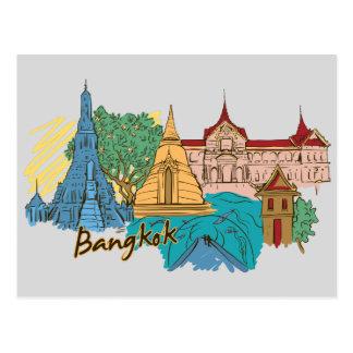 Bangkok, Thailand Famous City Travel Postcard