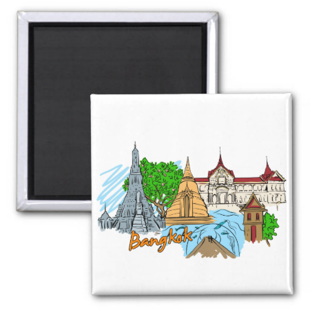 Bangkok - Thailand Fridge Magnet