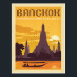 "Bangkok, Thailand Postcard<br><div class=""desc"">Anderson Design Group is an award-winning illustration and design firm in Nashville,  Tennessee. Founder Joel Anderson directs a team of talented artists to create original poster art that looks like classic vintage advertising prints from the 1920s to the 1960s.</div>"