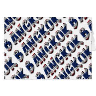 Bangkok Thailand Thai Flag Colors Typography Card