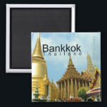 """Bangkok Thailand Travel Souvenir Magnet<br><div class=""""desc"""">This magnet pictures stunning architecture at The Grand Palace in Bangkok,  Thailand.   Tip: Add a date to keep a magnet chronicle of your travels.</div>"""
