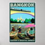 Bangkok Thailand | Vintage Travel Poster Print
