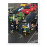 Bangkok Traffic ... Tuk Tuk Racing Postcard