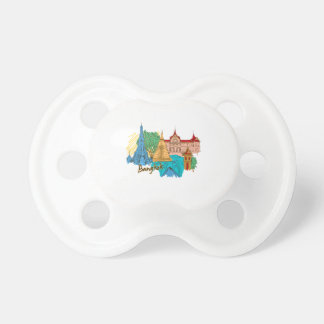 bangkok travel city graphic png baby pacifiers