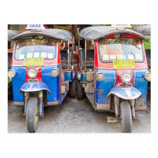 Bangkok tuk tuks postcard