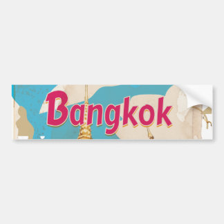 Bangkok Vintage Travel Poster Bumper Sticker