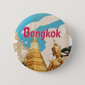 Bangkok Vintage Travel Poster Pinback Button