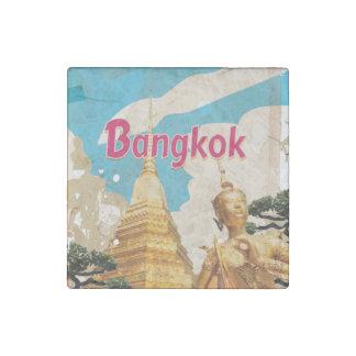 Bangkok Vintage Travel Poster Stone Magnet