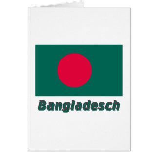 Bangladesch Flagge mit Namen Card