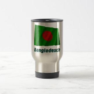 Bangladesch Fliegende Flagge mit Namen 15 Oz Stainless Steel Travel Mug