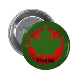bANGLADESH - CANADA FLAG Pinback Button