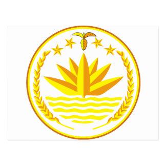 Bangladesh  Coat of arms BD Postcard