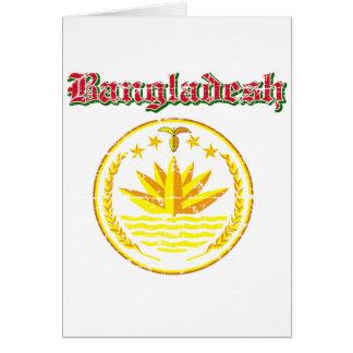 Bangladesh coat of arms designs card