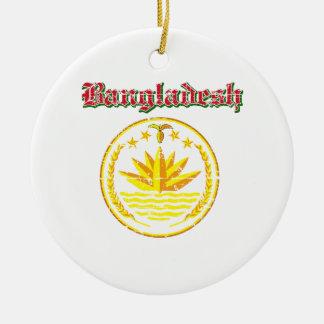 Bangladesh coat of arms designs christmas tree ornaments