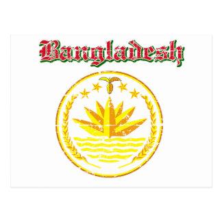 Bangladesh coat of arms designs postcard