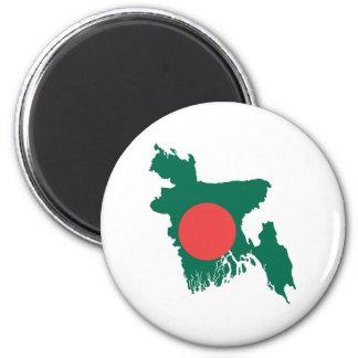 bangladesh country flag map shape symbol magnet
