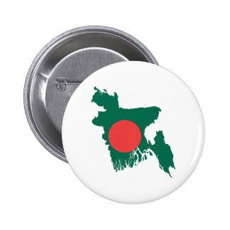 bangladesh country flag map shape symbol pinback button