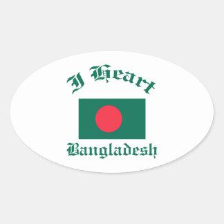 Bangladesh Design Oval Sticker