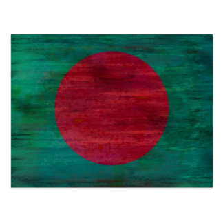 Bangladesh distressed Bangladeshi flag Postcard