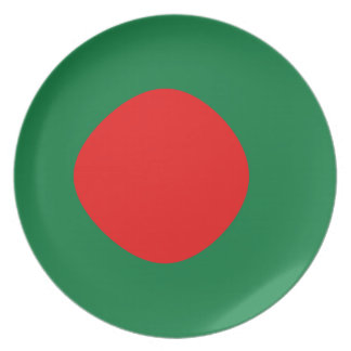 Bangladesh Fisheye Flag Plate