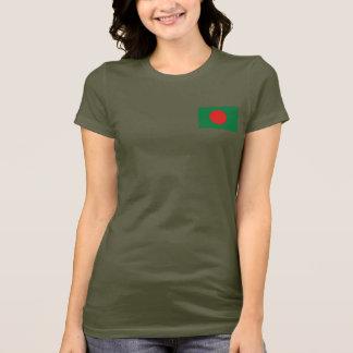 Bangladesh Flag and Map dk T-Shirt
