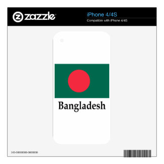 Bangladesh Flag And Name Decals For The iPhone 4