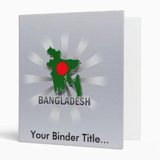 Bangladesh Flag Map 2.0 3 Ring Binder
