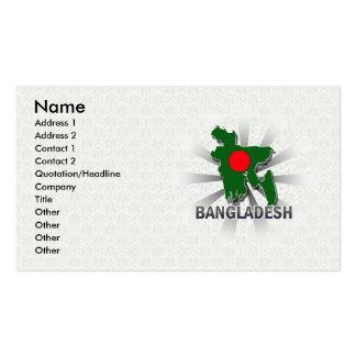 Bangladesh Flag Map 2.0 Business Card Templates