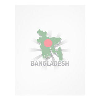 Bangladesh Flag Map 2.0 Custom Letterhead