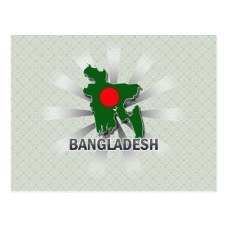 Bangladesh Flag Map 2.0 Post Cards