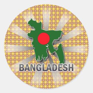 Bangladesh Flag Map 2.0 Round Stickers