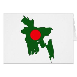 Bangladesh flag map cards
