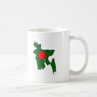 Bangladesh flag map coffee mug