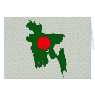 Bangladesh Flag Map full size Card