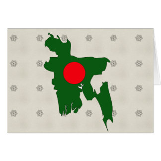Bangladesh Flag Map full size Greeting Card