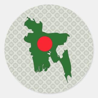 Bangladesh Flag Map full size Stickers
