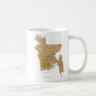 Bangladesh Flag ~ Map Mug